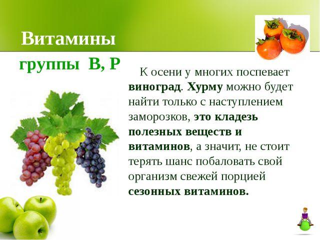 Витамины К осени у многих поспевает виноград. Хурму можно будет найти только...