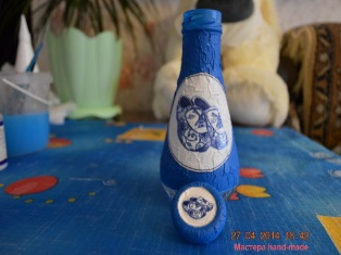 Декор бутылки Декупаж и пейп-арт