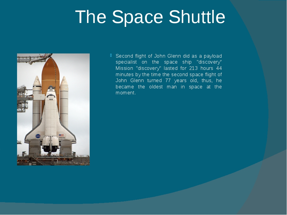 The Space Shuttle Second flight of John Glenn did as a payload specialist on...
