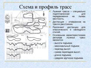 Схема и профиль трасс Лыжная трасса – специально подготовленная для передвиже