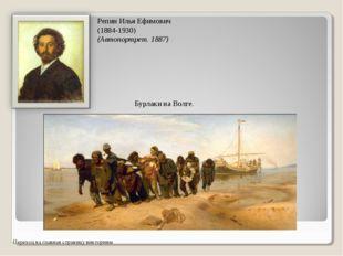Репин Илья Ефимович (1884-1930) (Автопортрет. 1887) Переход на главная страни