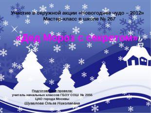Участие в окружной акции «Новогоднее чудо – 2012» Мастер-класс в школе № 267
