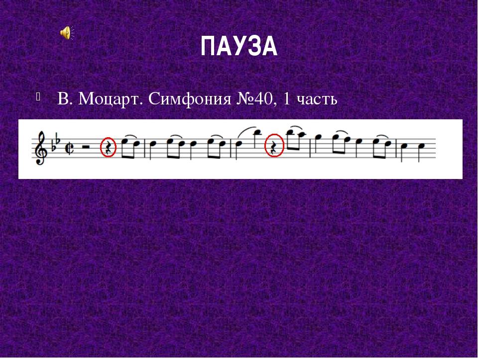 ПАУЗА В. Моцарт. Симфония №40, 1 часть