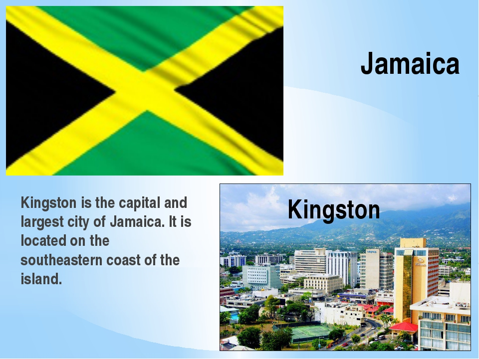 Jamaica Kingston is the capital and largest city of Jamaica. It is located on...