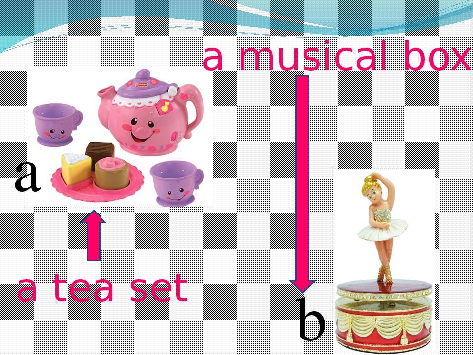 a b a tea set a musical box