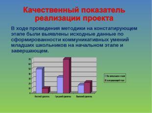 В ходе проведения методики на констатирующем этапе были выявлены исходные дан