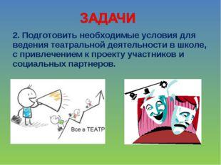 2. Подготовить необходимые условия для ведения театральной деятельности в шко