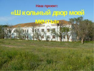 Наш проект: «Школьный двор моей мечты»