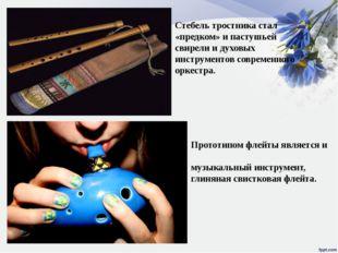 Прототипом флейты является и окари́на — древний духовой музыкальный инструмен