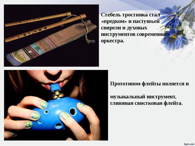 Прототипом флейты является и окари́на — древний духовой музыкальный инструмен...