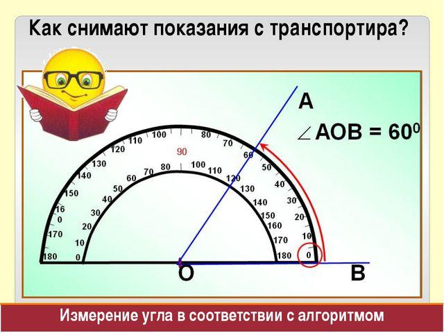Как снимают показания с транспортира? Измерение угла в соответствии с алгорит...