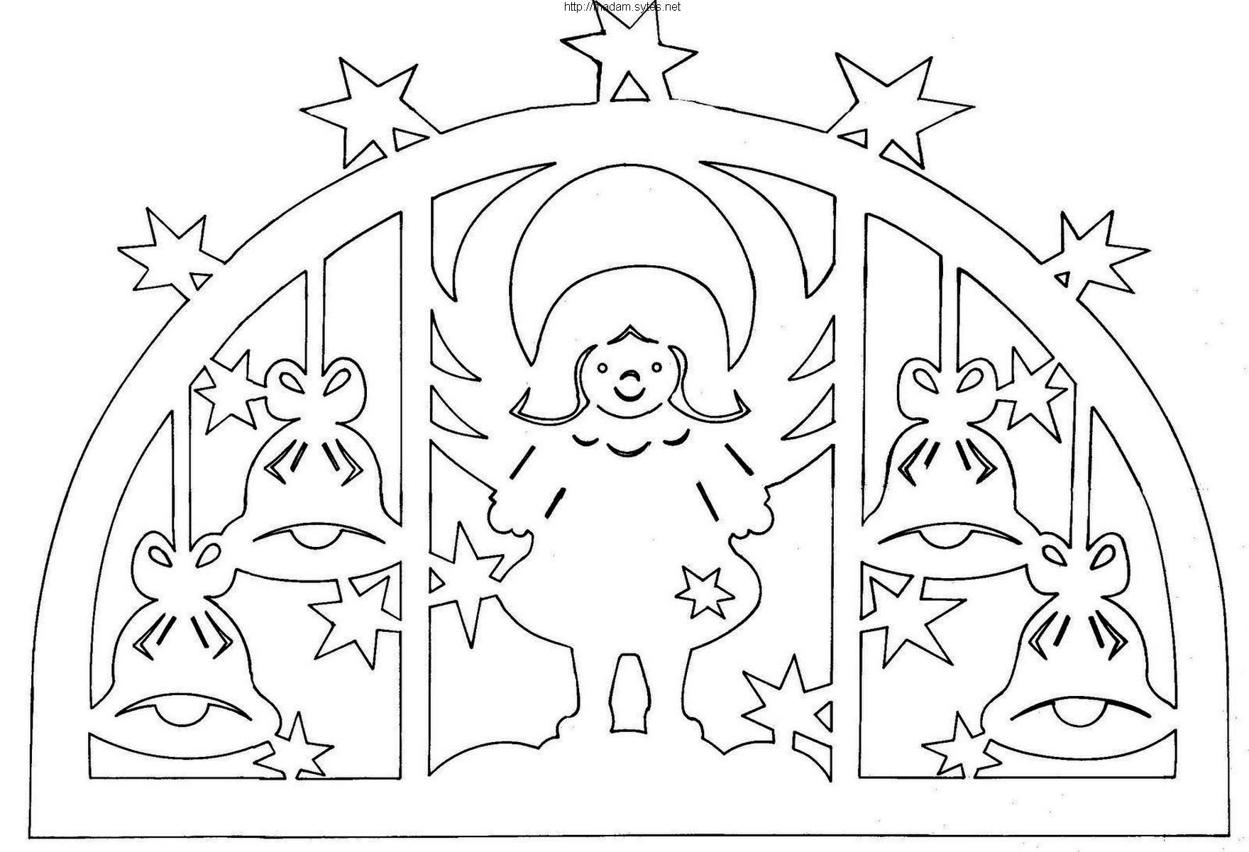 Рисунки на окна из бумаги для нового года