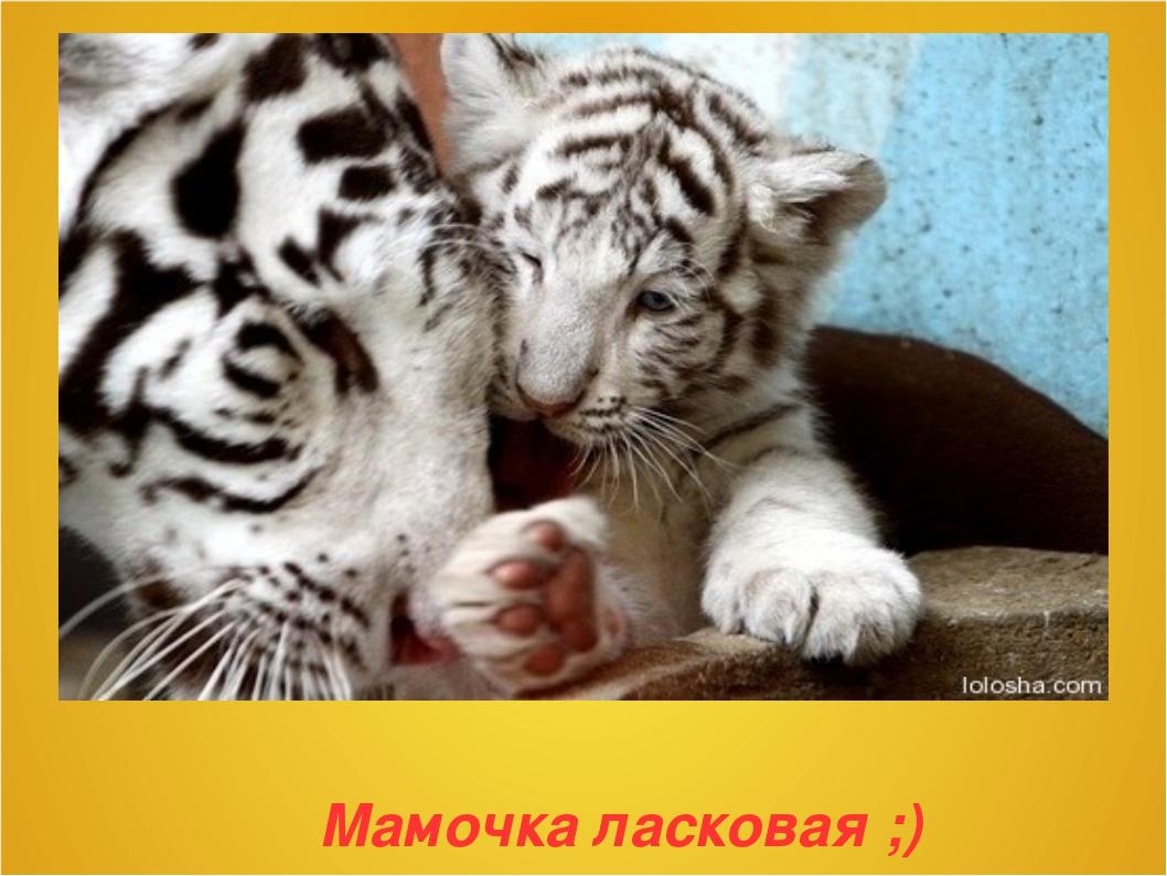 Мамочка ласковая ;)