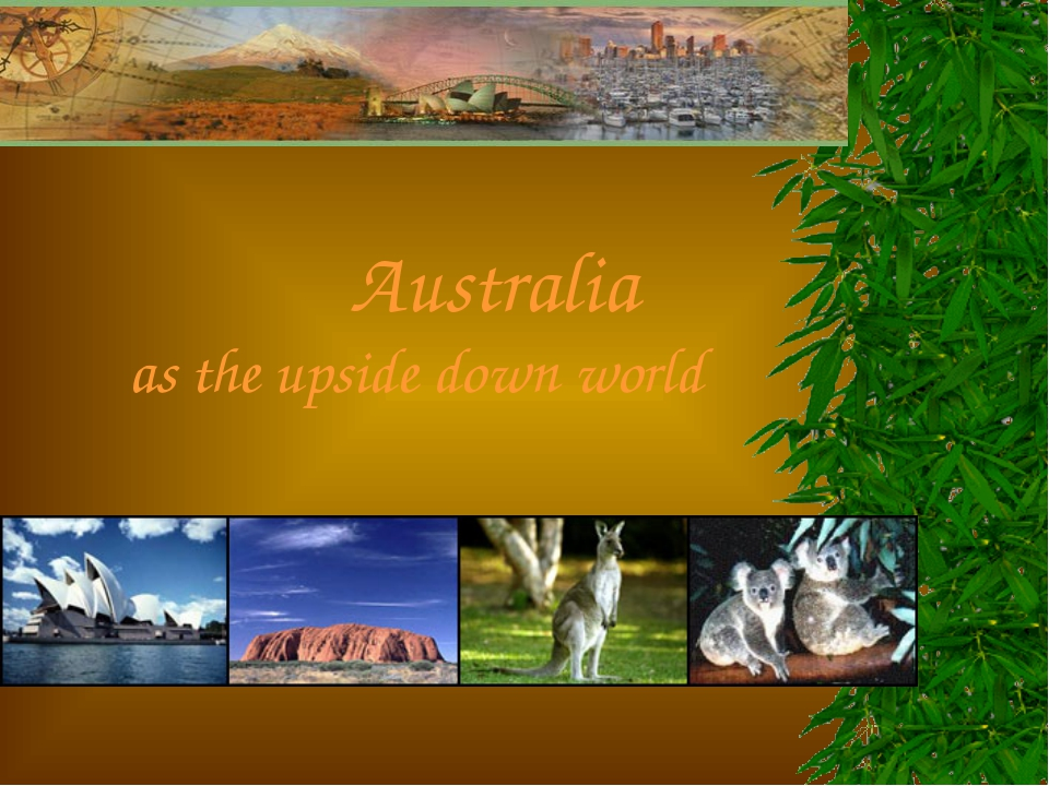 Australia as the upside down world