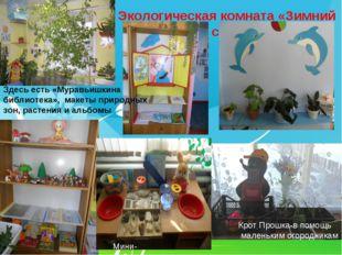 Экологическая комната «Зимний сад» Мини-лаборатория Крот Прошка-в помощь мале