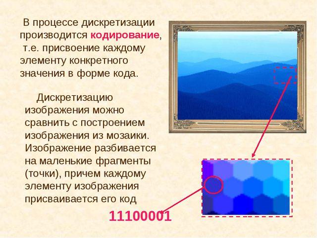 Дискретизацию изображения можно сравнить с построением изображения из мозаик...