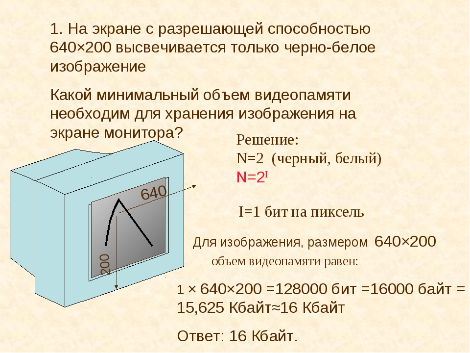 1. На экране с разрешающей способностью 640×200 высвечивается только черно-бе...
