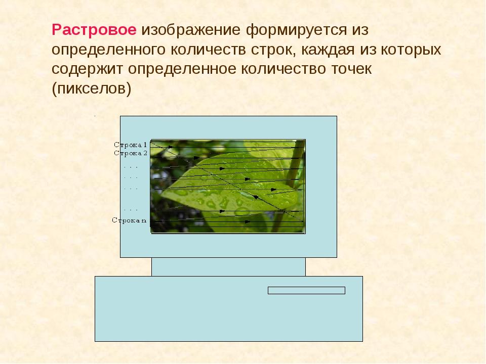Растровое изображение формируется из определенного количеств строк, каждая из...