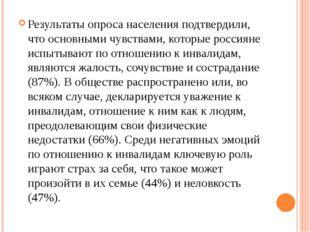 Результаты опроса населения подтвердили, что основными чувствами, которые рос