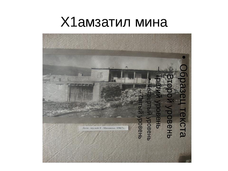 Х1амзатил мина