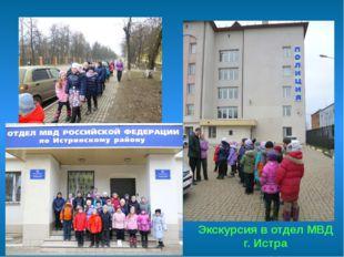 Экскурсия в отдел МВД г. Истра
