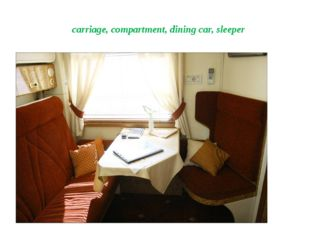 carriage, compartment, dining car, sleeper