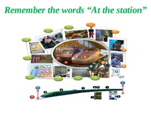 """Remember the words """"At the station"""""""