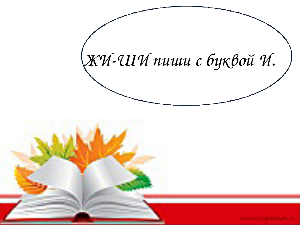ЖИ-ШИ пиши с буквой И.
