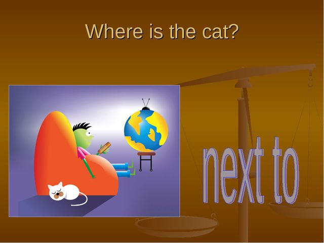 Where is the cat?