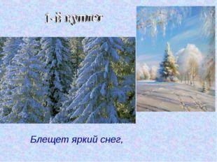1-й куплет Блещет яркий снег,