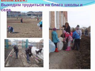 Весна 2014г. Выходим трудиться на благо школы и села.