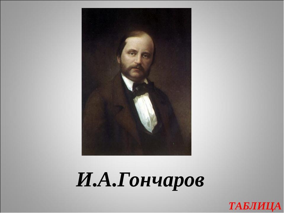 ТАБЛИЦА И.А.Гончаров
