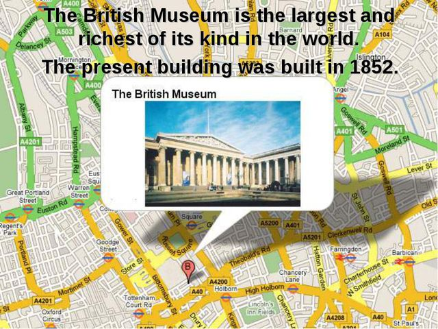 The British Museum is the largest and richest of its kind in the world. The p...