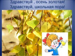 Здравствуй , осень золотая! Здравствуй, школьная пора!
