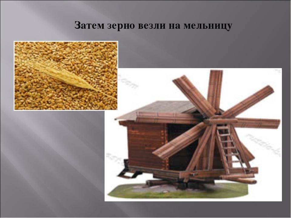 Затем зерно везли на мельницу