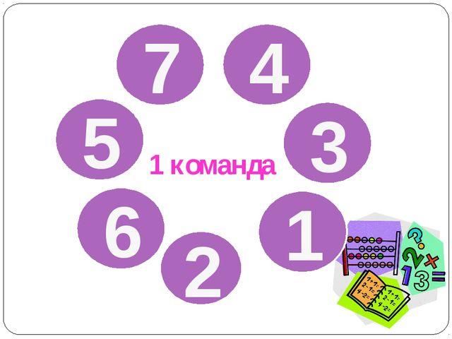 7 4 5 3 6 1 2 1 команда
