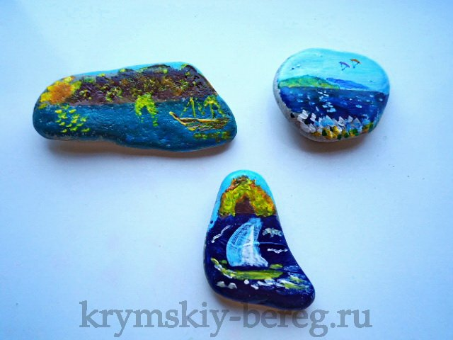 Мастер класс из морских ракушек и камней