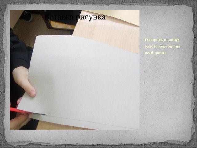 Отрезать полоску белого картона по всей длине.