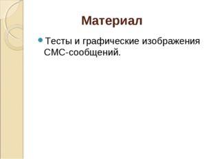 Материал Тесты и графические изображения СМС-сообщений.