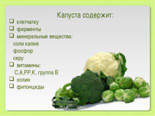 клетчатку ферменты минеральные вещества: соли калия фосфор серу витамины: С,А