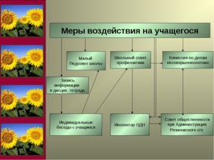 Меры воздействия на учащегося Школьный совет профилактики Комиссия по делам н