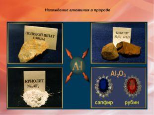 Нахождение алюминия в природе