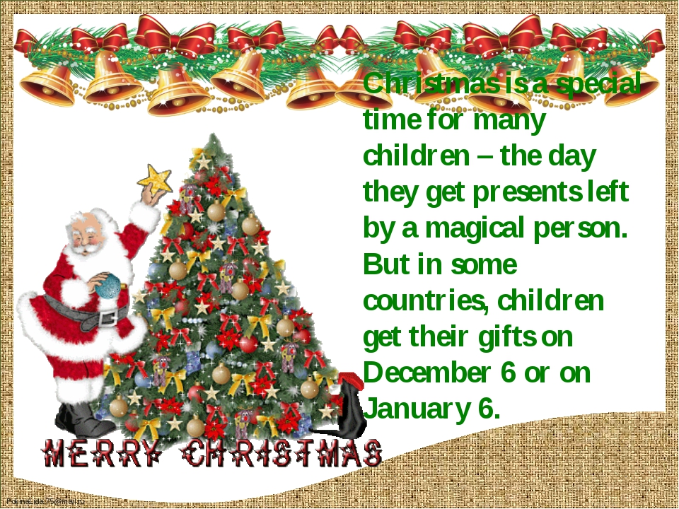 Christmas is a special time for many children – the day they get presents lef...