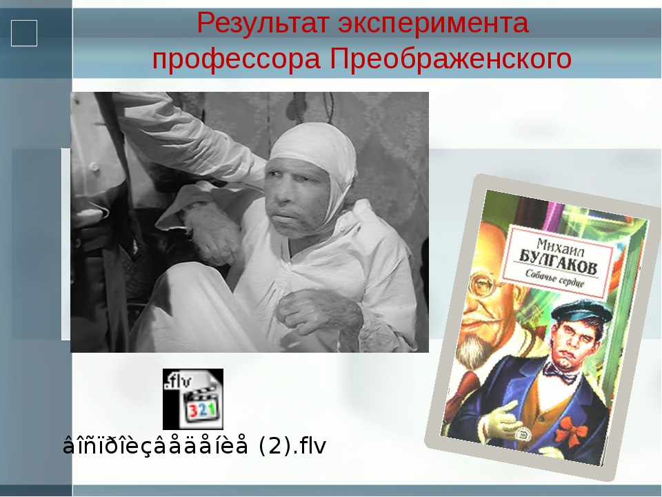 Результат эксперимента профессора Преображенского