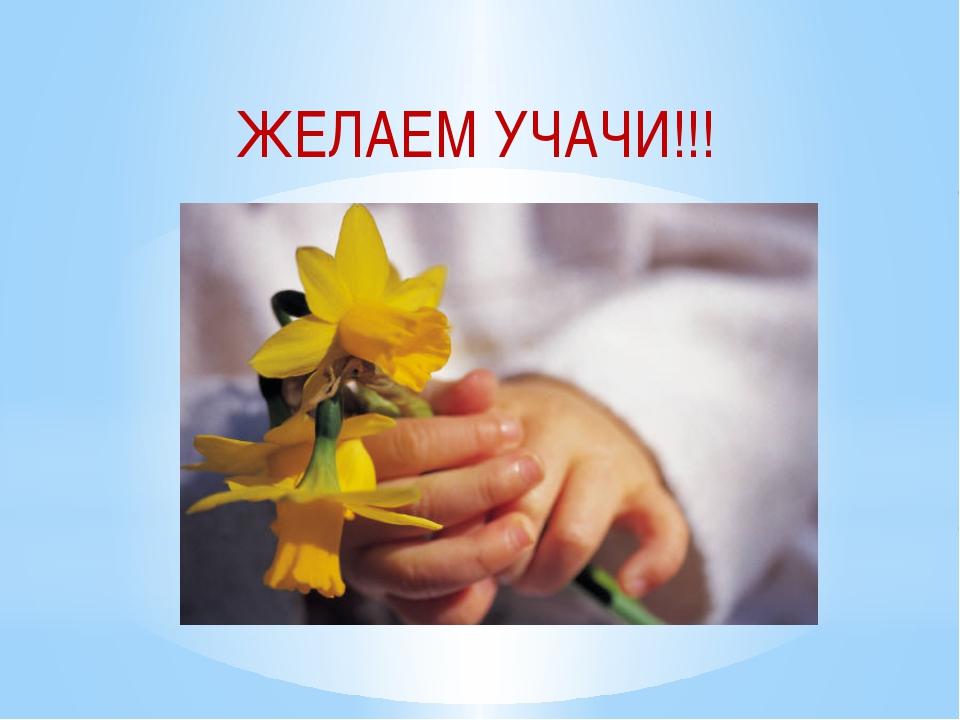 ЖЕЛАЕМ УЧАЧИ!!!