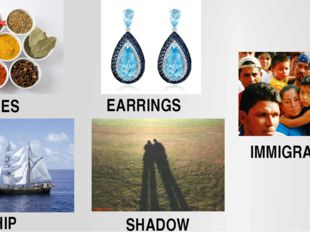 SPICES EARRINGS SHIP SHADOW IMMIGRANTS