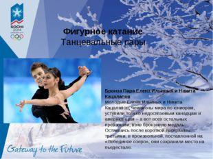 Фигурное катание Танцевальные пары Бронза Пара Елена Ильиных и Никита Кацалап