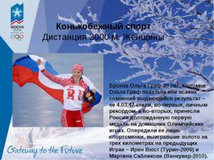 Конькобежный спорт Дистанция 3000 м. Женщины Бронза Ольга Граф 30 лет, Коломн