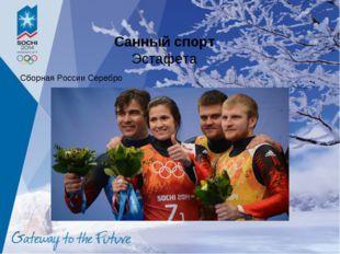 Санный спорт Эстафета Сборная России Серебро