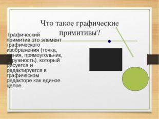 Что такое графические примитивы? Графический примитив это элемент графическог